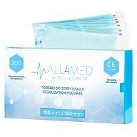 ALL4MED Sterilizační sáčky 190x330 mm - 200 ks