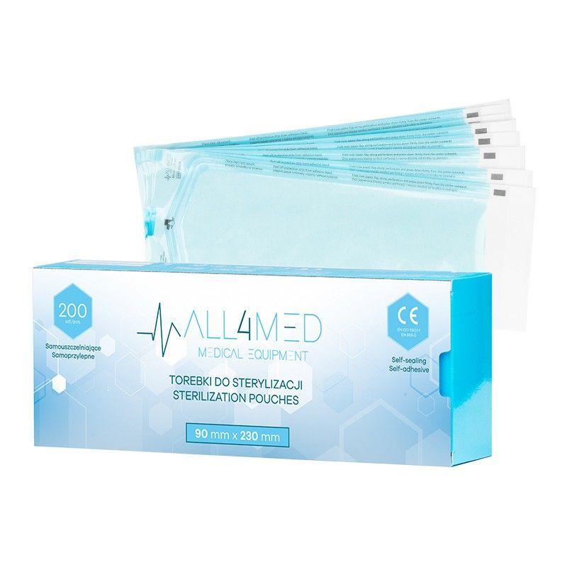 ALL4MED Sterilizační sáčky 90x230 mm - 200 ks