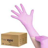 Jednorázové nitrilové rukavice růžové - XS - karton 10ks (AS)