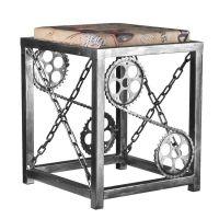 Kovová stolička s řetězy - stříbrná