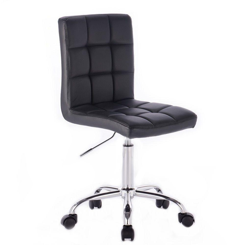 Kosmetická židle na kolečkách HC1015K černá