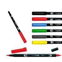 Oboustranné pero - TOMBOW červené (K)
