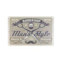 Plechová retro cedule Barbershop B005