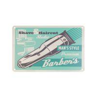 Plechová retro cedule Barbershop B007