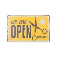 Plechová retro cedule Barbershop B009