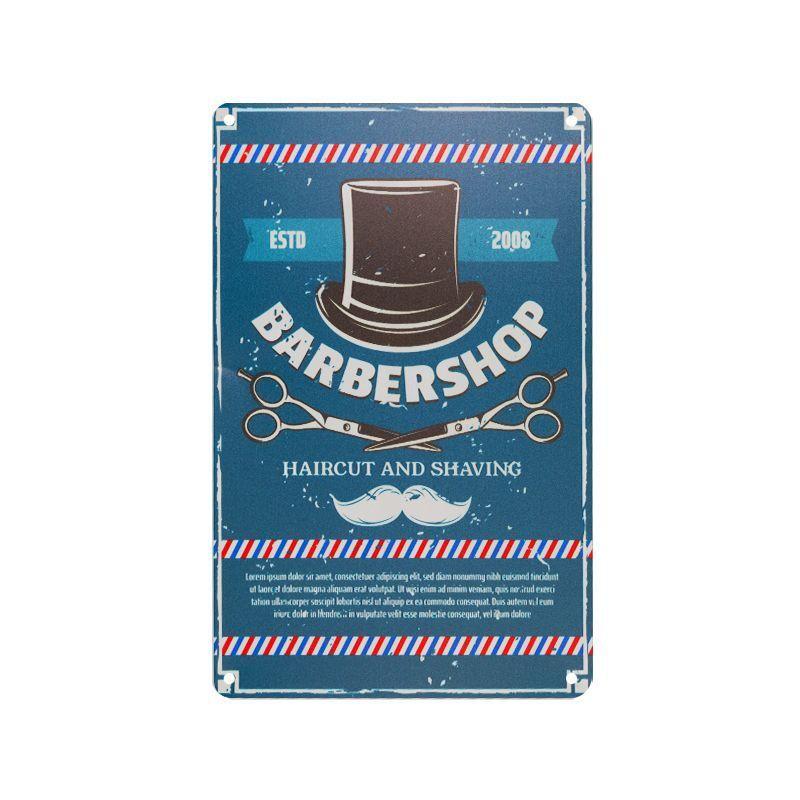 Plechová retro cedule Barbershop B031