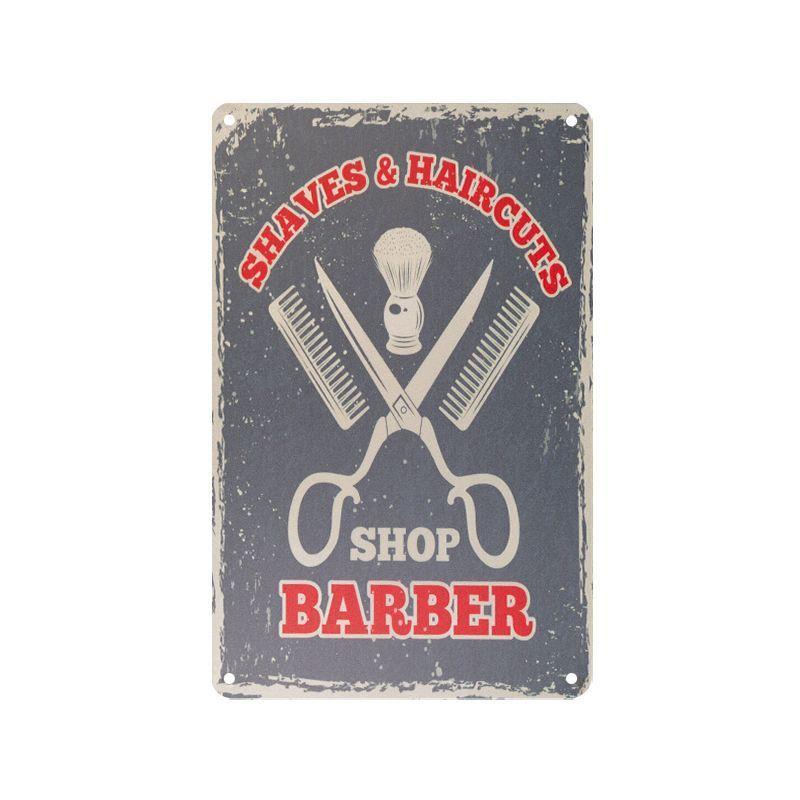 Plechová retro cedule Barbershop B064