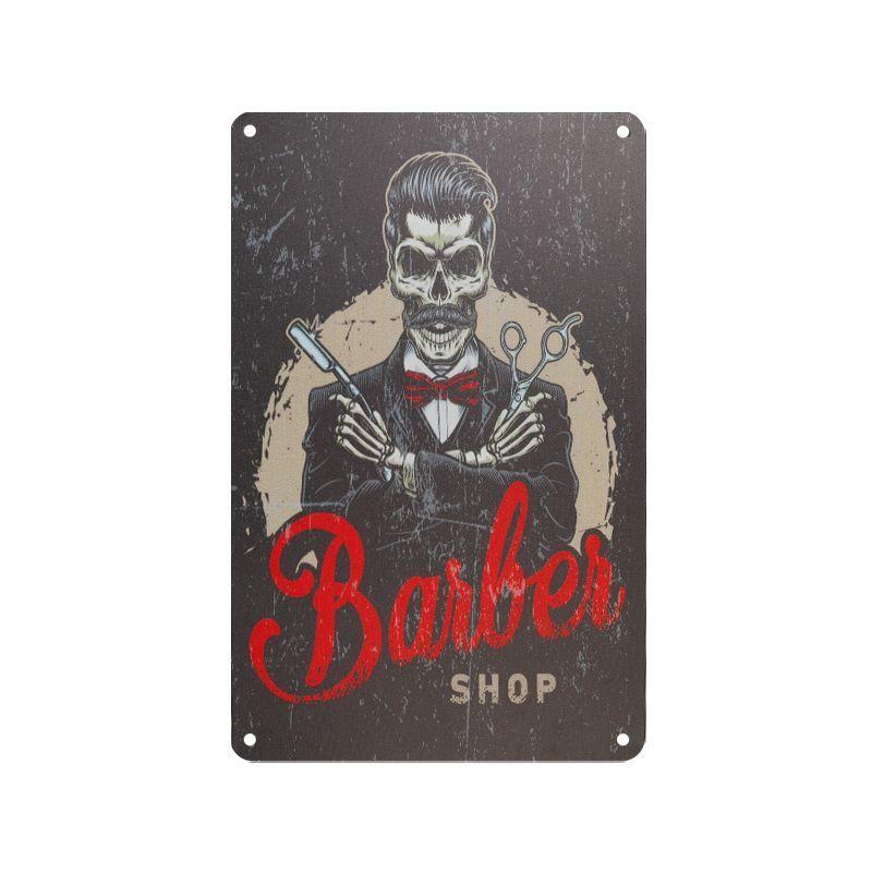 Plechová retro cedule Barber shop B081
