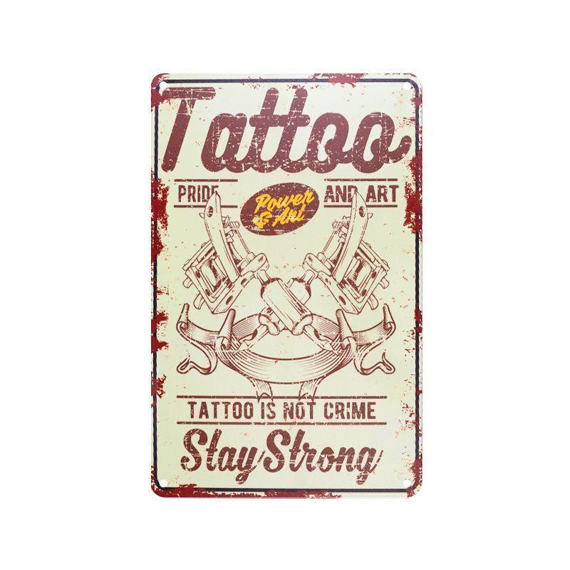 Plechová retro cedule Tattoo TA109