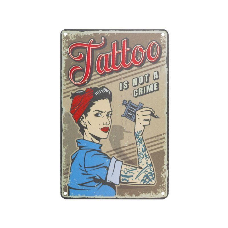 Plechová retro cedule Tattoo TA133