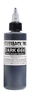 Tetovací barva Silverback Ink DARK 666 - 120ml (K)