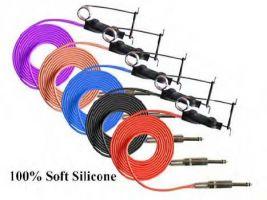 Tetovací propojovací silikonový vysokonapěťový kabel černý - 1,8 m