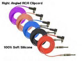 Right Angled RCA Silicone Clip Cord - 2,4 m