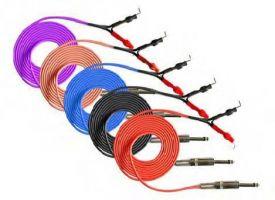 Tetovací propojovací kabel černý bezpružinový - 2,5 m