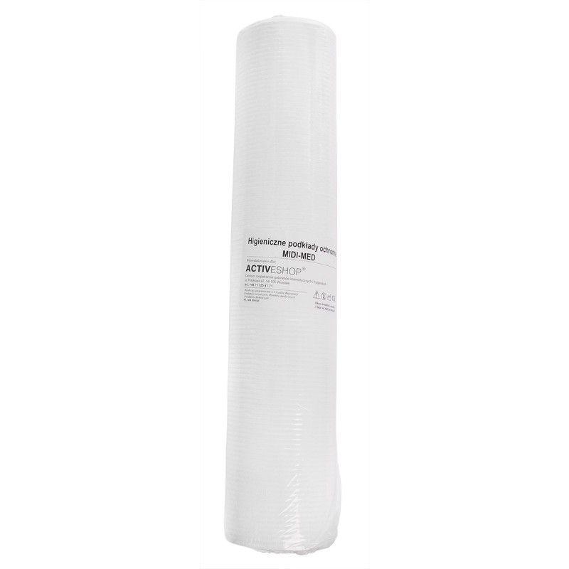 Jednorázové papírové prostěradlo s fólií dole - role 51cm x 50cm 80ks