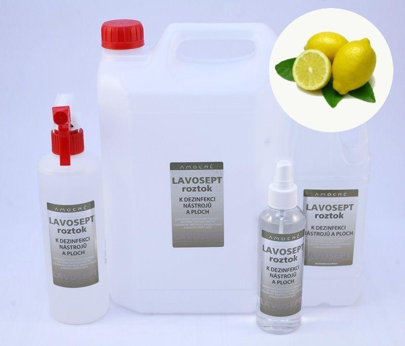 Lavosept® dezinfekce na nástroje a plochy 500 ml rozprašovač - aroma citron