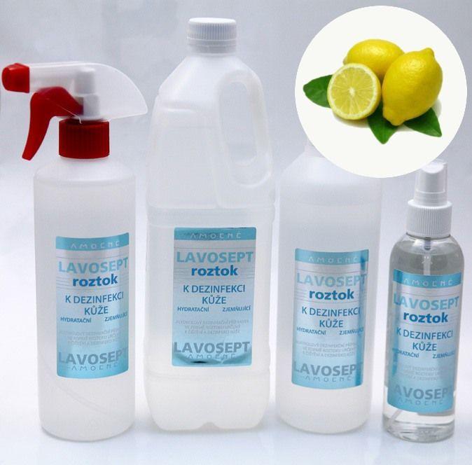 Lavosept® roztok - dezinfekce 500 ml (s rozprašovačem) - citronové aroma