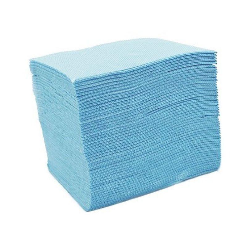 Skládané lékařské ubrousky s fólií 33x48 - 50ks modré