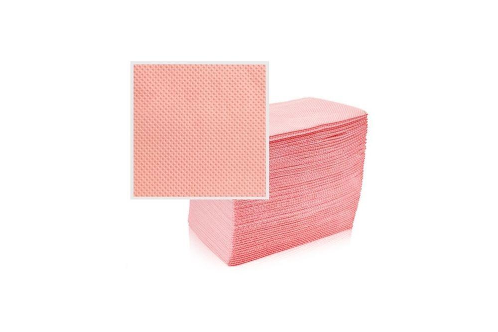 Skládané lékařské ubrousky s fólií 33x48 - 50ks růžové