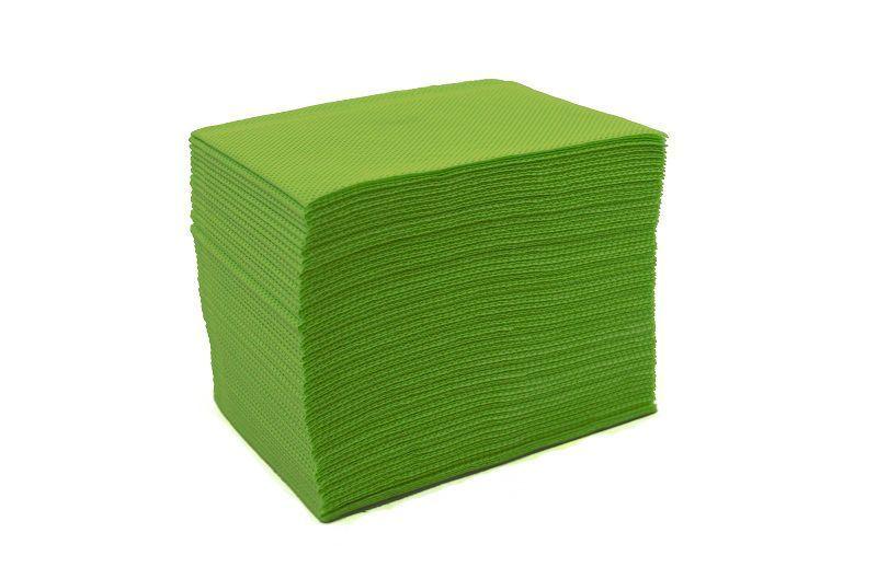 Skládané lékařské ubrousky s fólií 33x48 - 50ks zelené